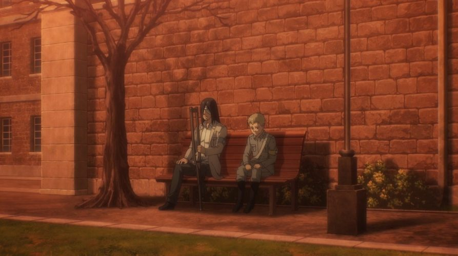 Why doesn't Eren have a leg?
